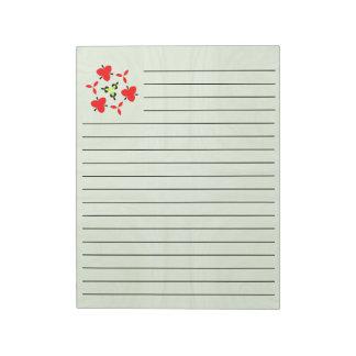 Green stylish wood pattern notepad