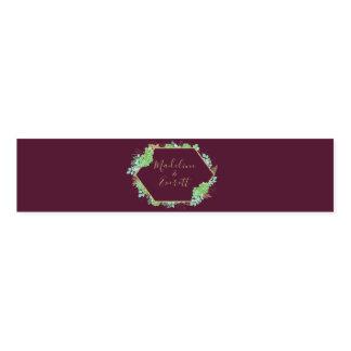 Green Succulents Gold Frame Wedding Monogram Napkin Band