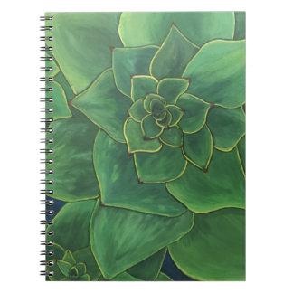 Green succulents notebook