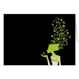 green sugar greeting card
