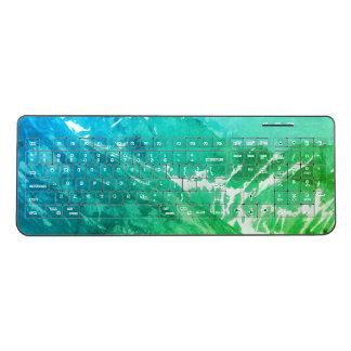 Green Summer Mountains Keyboard