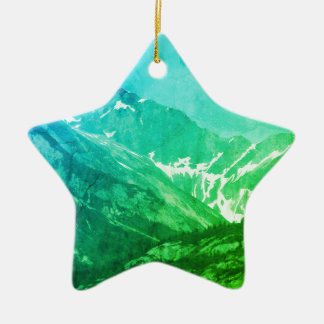Green Summer Mountains Ornament