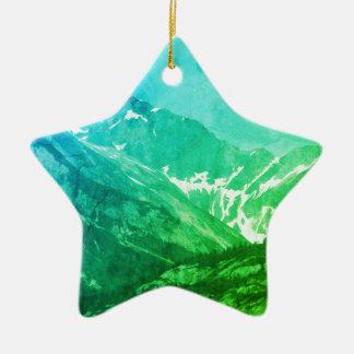 Green Summer Mountains Ornament