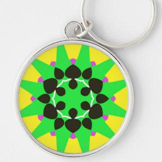 Green sun premium keychain