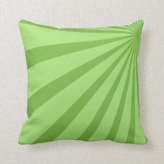 Green Sunburst Throw Pillow