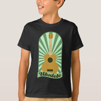Green Sunburst Ukulele T-Shirt