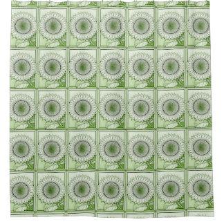 Green Sunflower Shower Curtain