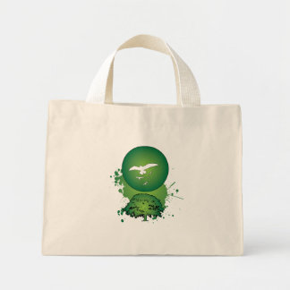 Green Sunset Canvas Bags