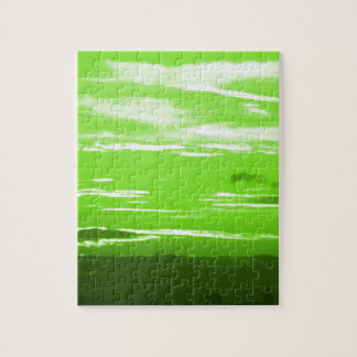 Green Sunset Jigsaw Puzzle