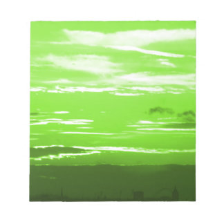 Green Sunset Notepad