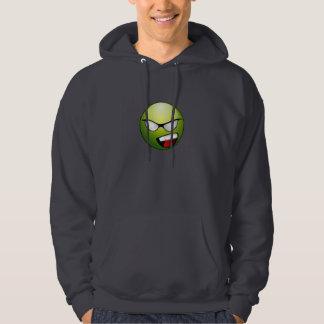 Green Superhero Smiley Face Sweatshirt
