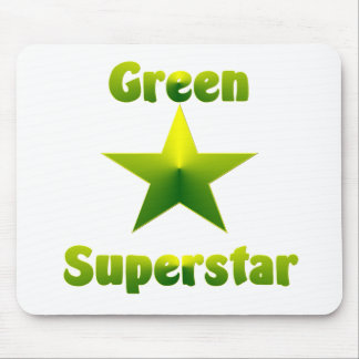 Green Superstar #1 Mouse Pads