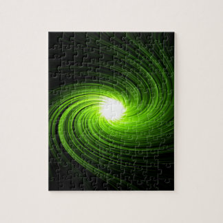 Green swirl abstract. jigsaw puzzle