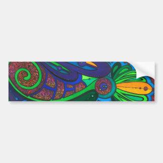 Green Swirl Bumper Sticker