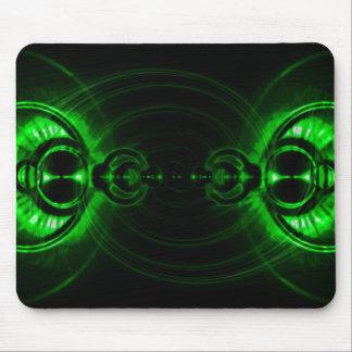 Green Swirl Lens Flare Mouse Mat