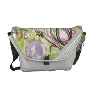 Green Swirl Messenger Bag