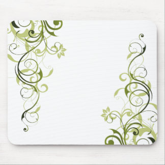 Green Swirl Mouse Pad