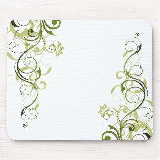Green Swirl Mousepads