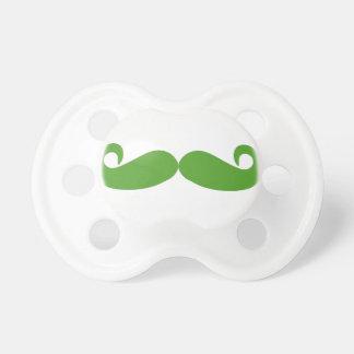 Green Swirl Mustache Dummy
