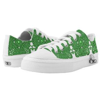 Green Swirl Tech Printed Shoes