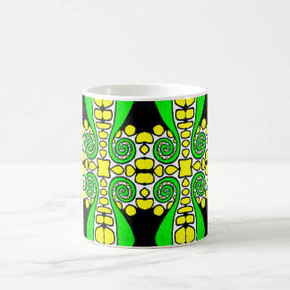 Green Swirl w/Yellow & White Coffee Mug | Abstract