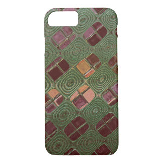 Green Swirls and Earth Tones iPhone 8/7 Case
