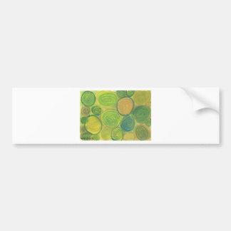 Green Swirls Bumper Stickers