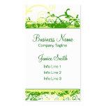 Green Swirls Business Card Template