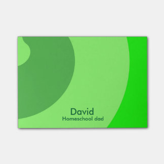 Green Swirls for Homeschool Dad Post-it® Notes