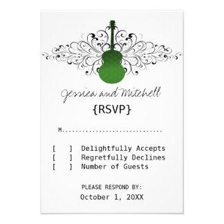 Green Swirls Guitar Response Card