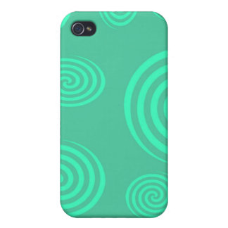 Green Swirls I-pod Touch Case Covers For iPhone 4