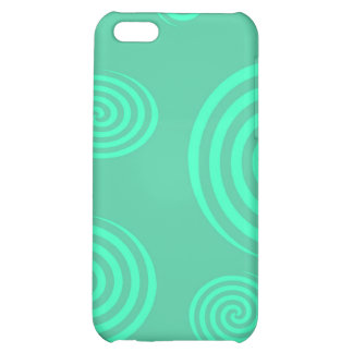 Green Swirls I-pod Touch Case iPhone 5C Cover