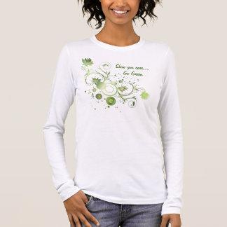 Green Swirls Long Sleeve T-Shirt