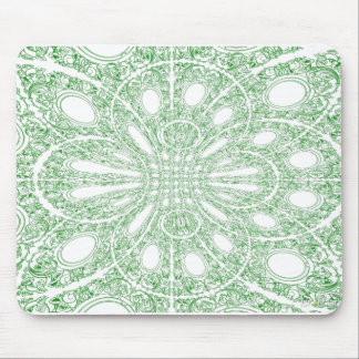 Green Swirls Mouse Mat