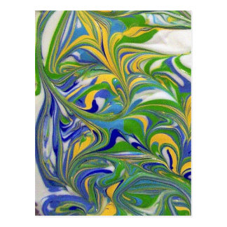 Green Swirls Postcard
