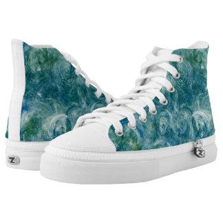 Green Swirls Printed Shoes