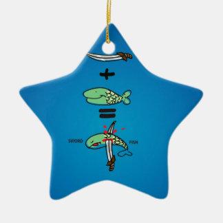 Green Sword Fish Ceramic Star Decoration