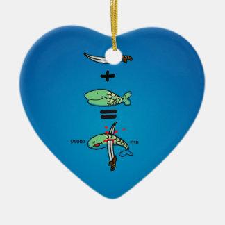 Green Sword Fish Christmas Ornament