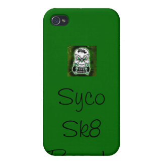 Green Syco Sk8 case iPhone 4/4S Cases