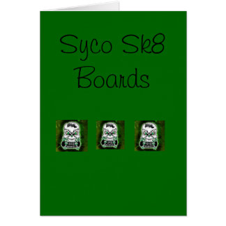 Green Syco Sk8 greeting card