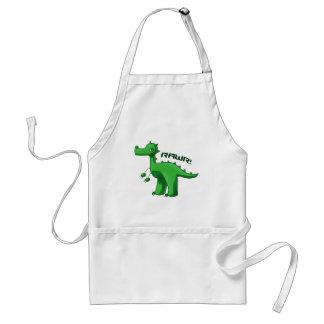 Green T-Rex Apron