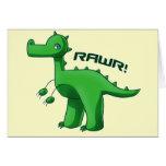 Green T-Rex Card