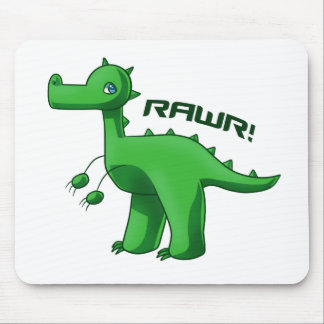 Green T-Rex Mouse Pads