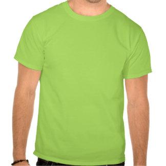 Green t-shirt yoga pose