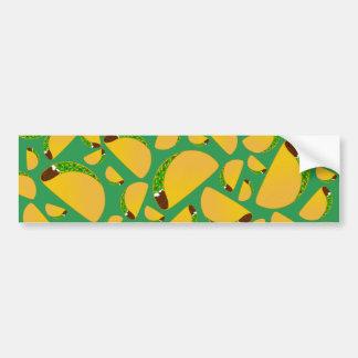 Green tacos bumper sticker