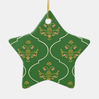 Green Tapestry Christmas Ornament