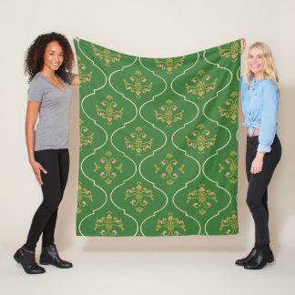 Green Tapestry Fleece Blanket