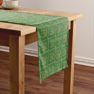 Green Tapestry Short Table Runner