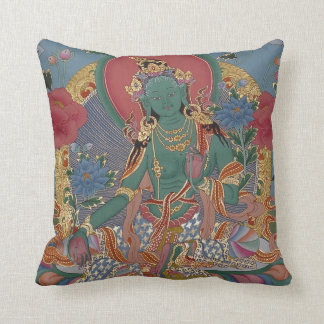 Green Tara Pillow