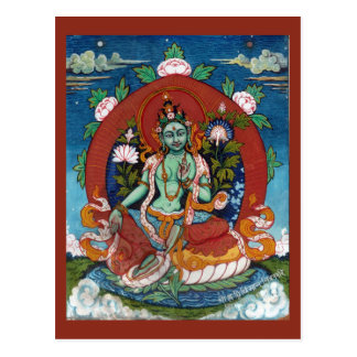 Green Tara Tibetan Goddess of Compassion Postcard